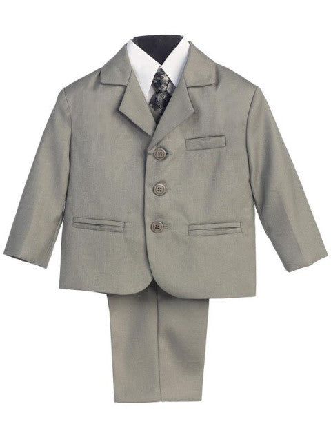 5 Piece Suit with Vest and Tie - Lt Gray Size 8 to 20H