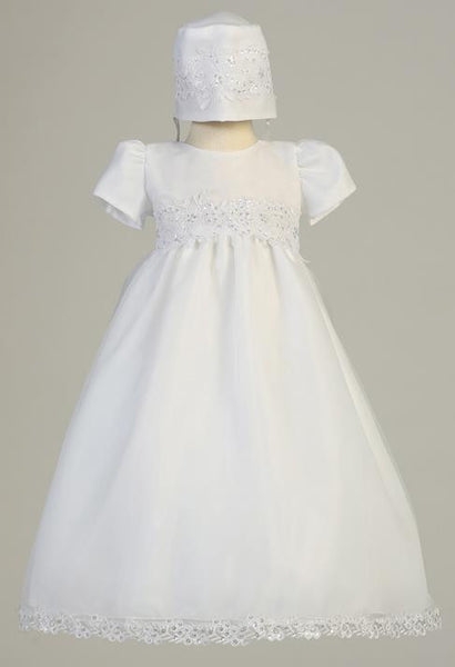 Audrey Organza Gown with Corded Trims & Sequins