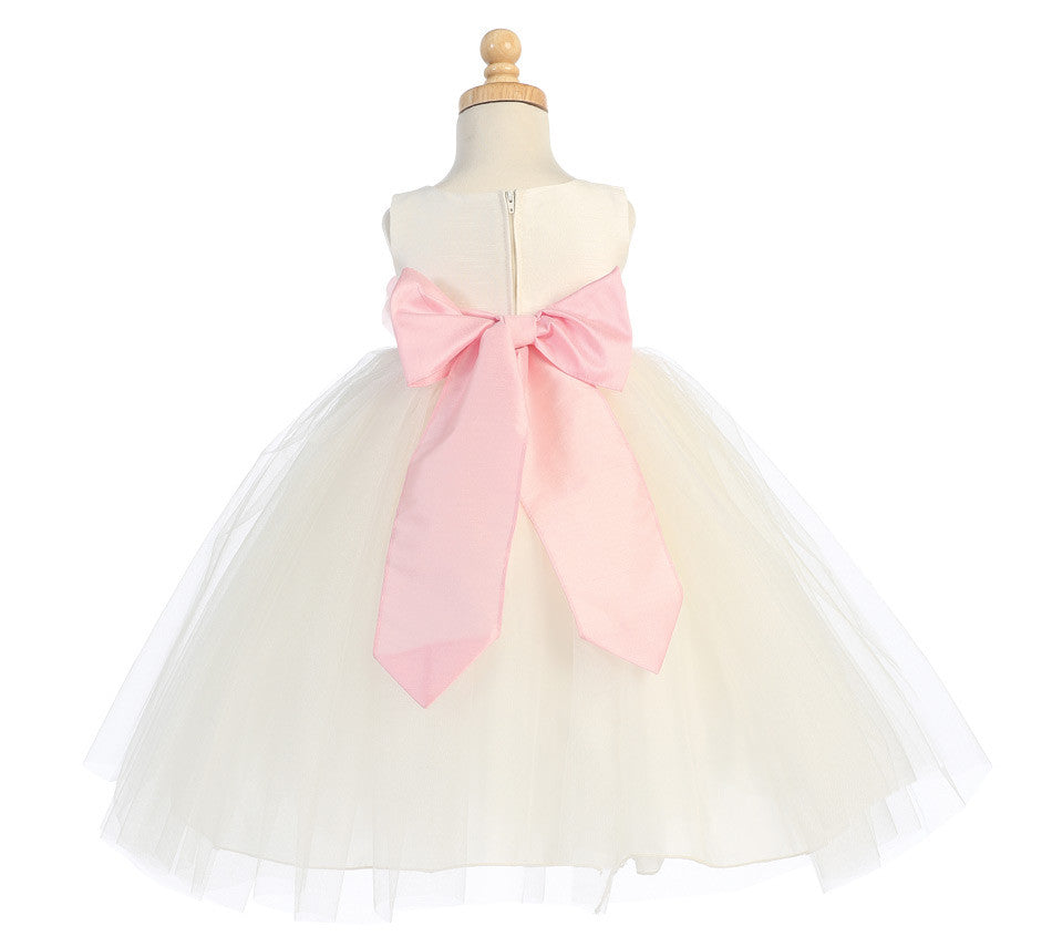 Ballerina Flower Girl Dress Ivory Infanttoddler Bl228 Mollys