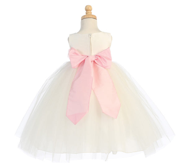 Ballerina Flower Girl Dress - White - Girls Sizes  BL228