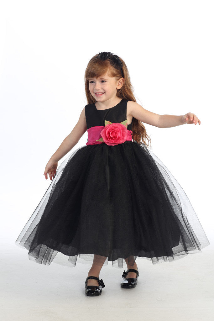 Ballerina Flower Girl Dress - Black - Girls Sizes  BL228
