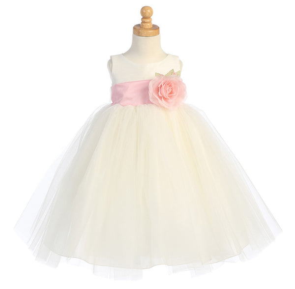 Ballerina Flower Girl Dress - Ivory - Infant/Toddler  BL228