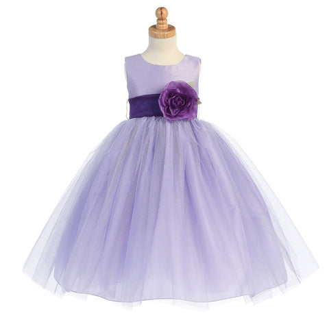 Ballerina Flower Girl Dress - Lilac - Girls Sizes  BL228