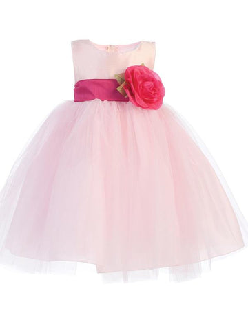 Ballerina Flower Girl Dress - Pink - Infant/Toddler  BL228