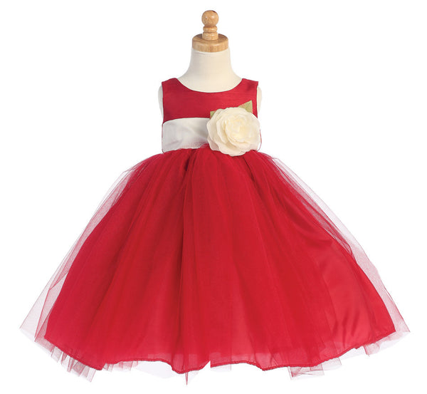 Ballerina Flower Girl Dress - Red - Girls Sizes  BL228