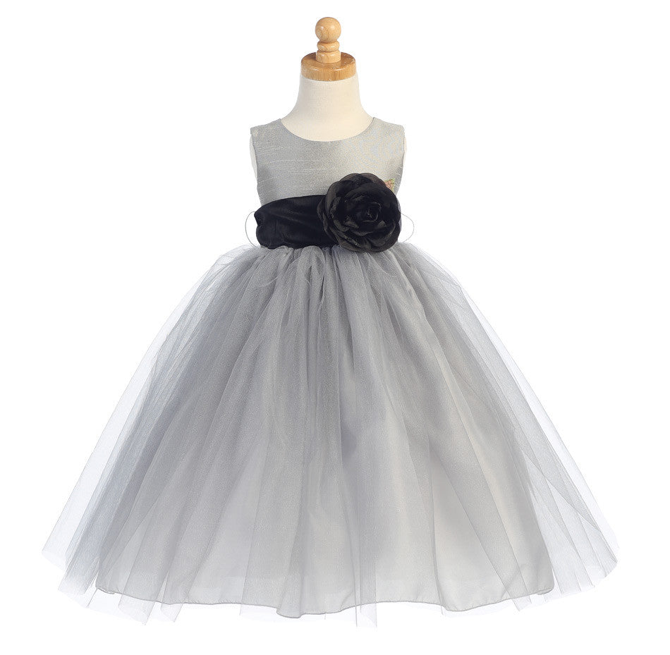 Ballerina Flower Girl Dress - Silver - Girls Sizes  BL228