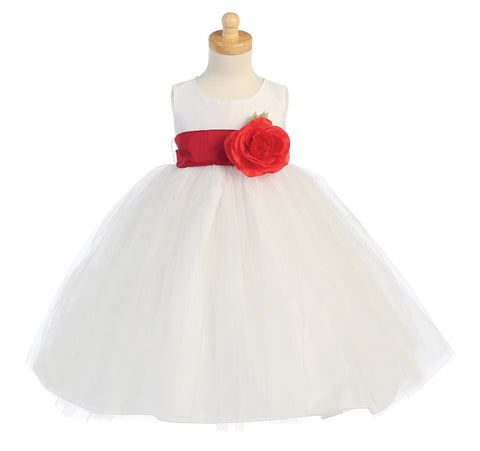 Ballerina Flower Girl Dress - White - Infant/Toddler  BL228