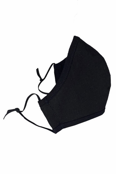 Black Cotton Face Mask - Kids and Adults