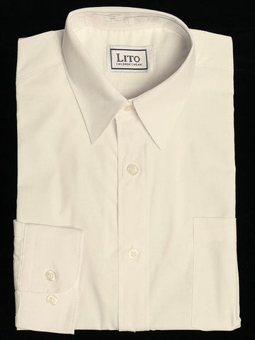 Boy's Light Ivory Dress Shirt - LT852i