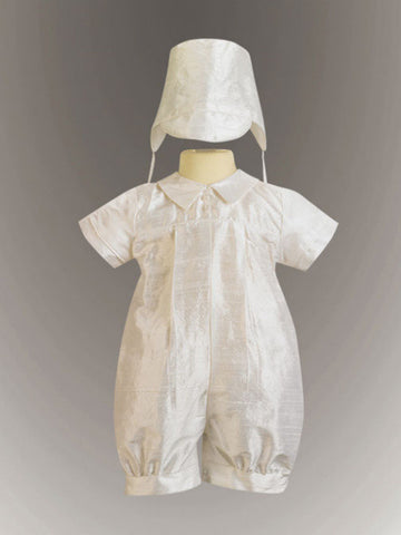 Conner Boy's Silk Christening Romper
