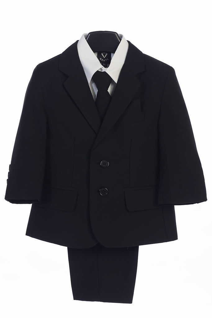 Boys Black 5-Piece Suit - Little Gents - LT-3582B