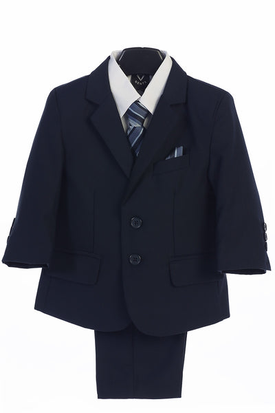 Boys Navy 5-Piece Suit - Little Gents - LT-3582N