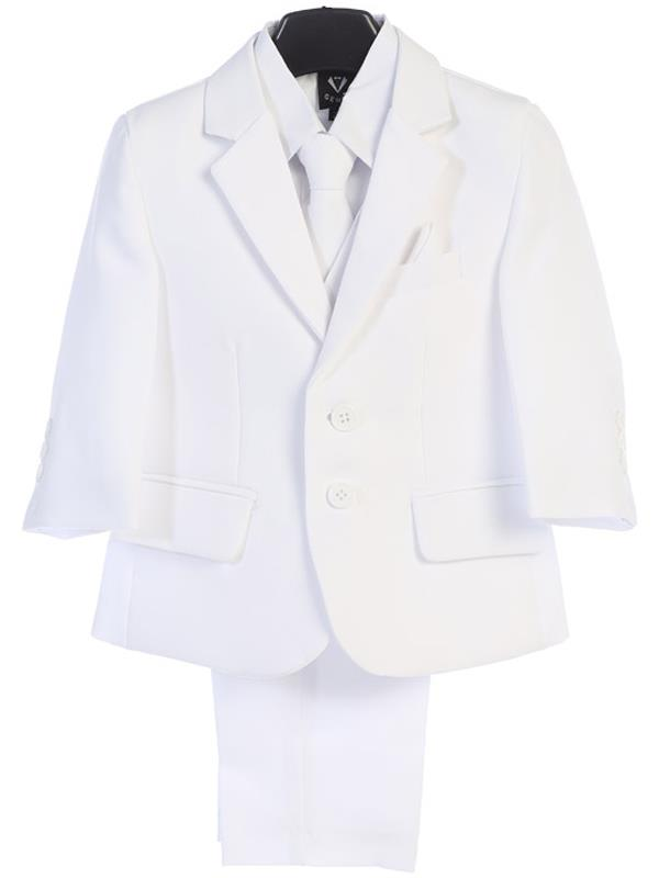 Boys White 5 Piece Suit LT-3585-W
