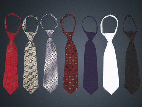 Boy's Zipper Neck Ties