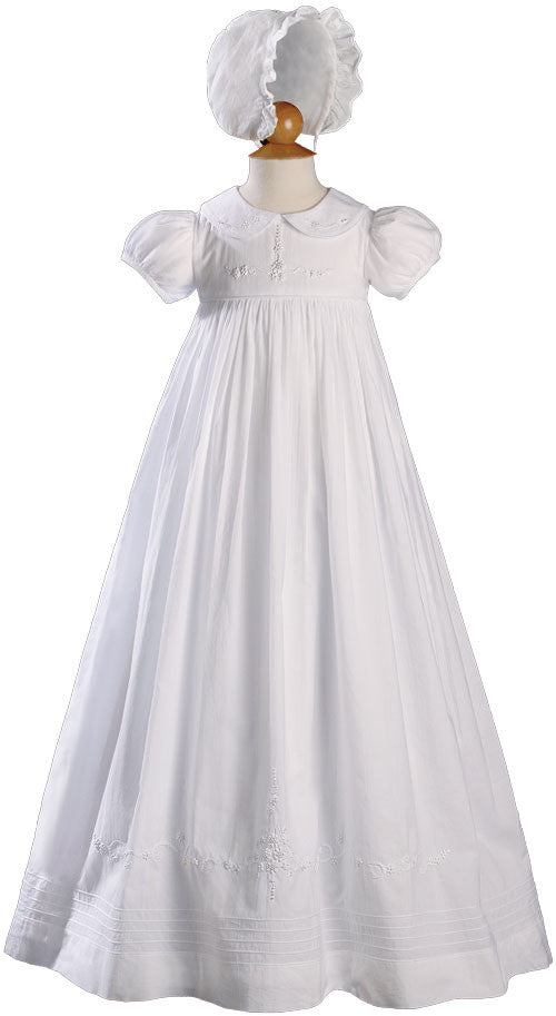 Girls 33 inch Short Sleeve Gown with Hand Embroidery  LTML-CA54GS