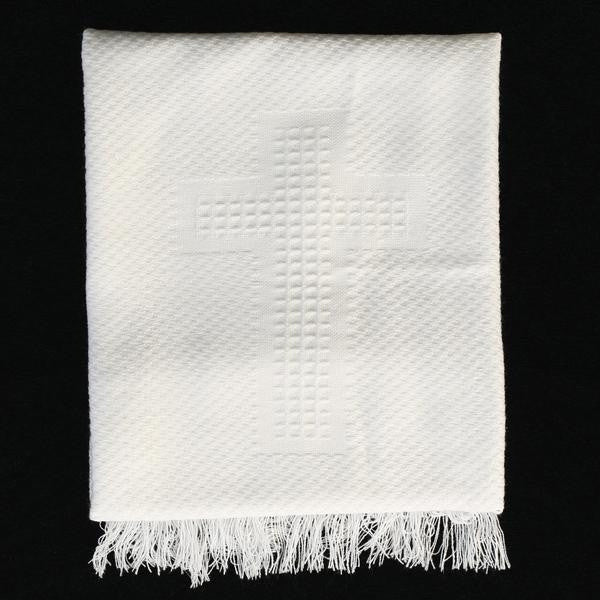 Christening Blanket with Embroidered Cross