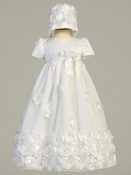 Clarice Floral Ribbon Tulle Christening Gown