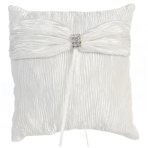 Crinkled Satin Ringbearers Pillow   LT-RP306