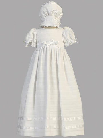 Daphne Embroidered Cotton Christening Gown