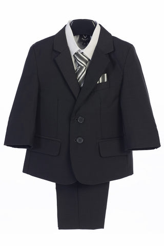Dark Gray Boys 5-Piece Suit - Little Gents - LT-3582DG