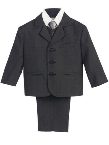 Dark Grey 5 Pc Suit with Vest Sizes 8 to 16H
