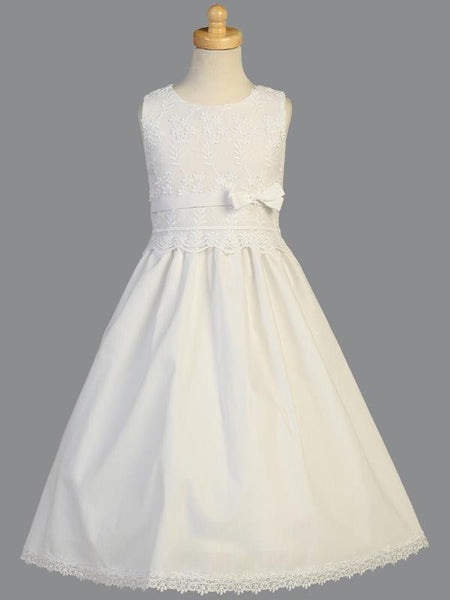 Embroidered Cotton First Communion Dress LT-SP105
