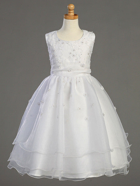 Embroidered Organza Communion Dress LT-SP930