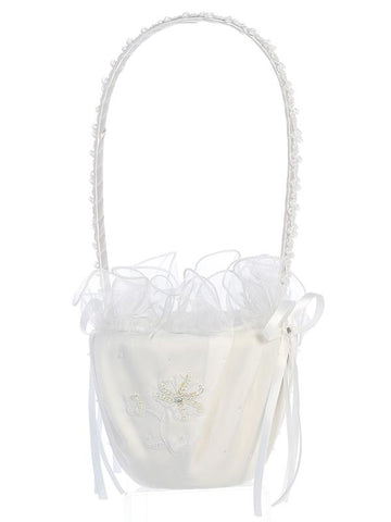 Embroidered and Sequined Flower Girl Basket  LT-FB6