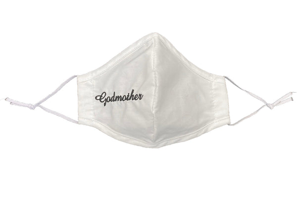 Godmother White Cotton Face Mask - Adult