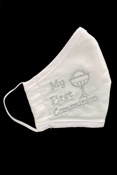 My First Communion Cotton Face Mask with Silver Chalice - Kids