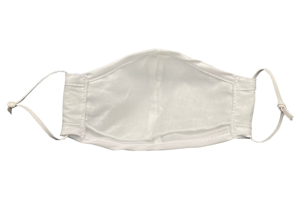 White Cotton Face Mask - Kids and Adults