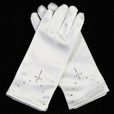Gloves with Rhinestone Cross - LT-GL15
