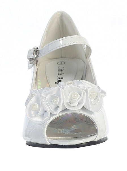 Nancy - Lito Girl's Heeled Shoe-white-front view