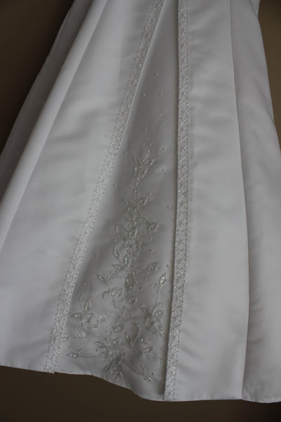 Satin Embroidered First Communion Dress with Bolero LT-SP703