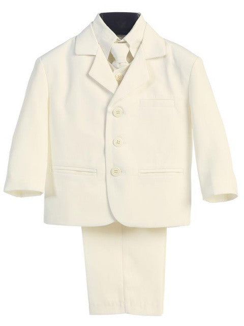 Ivory 5 Pc Suit with Vest Sizes 8 to 14