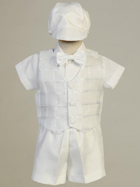 Joseph Plaid Vest and Shorts Christening Outfit