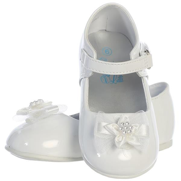 Joyce Baby Girl Shoes With Bow-white pair