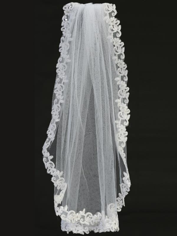Lace First Communion Veil on Comb - T-305