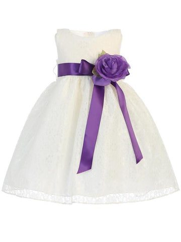 Lace Flower Girl Dress - Ivory - Infant/Toddler  BL237