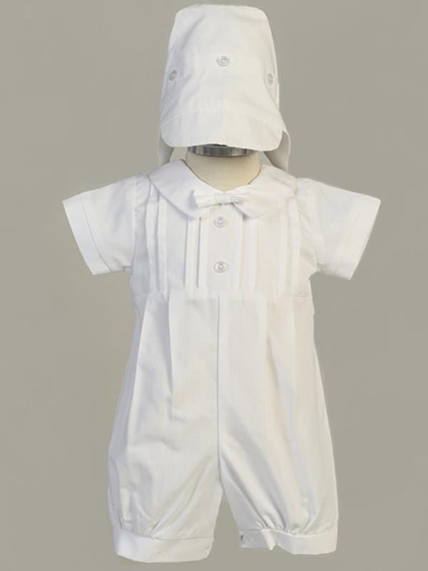 Liam Poly Cotton Boys Romper with Cap