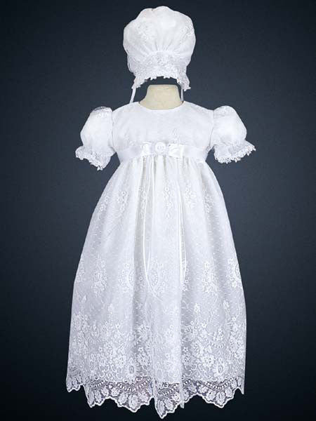 Madison Embroidered Tulle Baptismal Gown