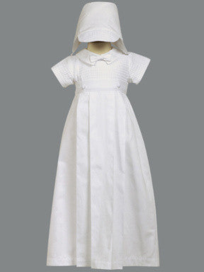 Mason Boy's Cotton Christening Romper with Detachable Gown