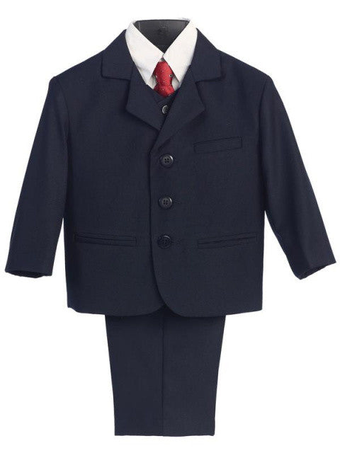 Navy 5 Piece Suit with Vest  Sizes 8 to 16H
