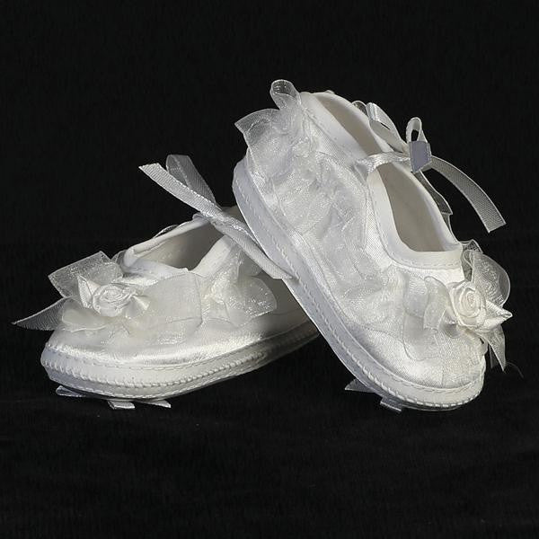 8773c4a1cd60c Baby Girls Organza Trim Christening Bootie GT-205