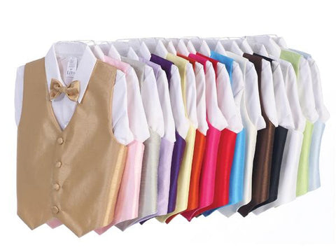 Poly Silk Vest and Bowtie for Boys - Lito 740