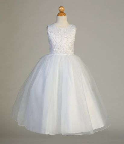 Sequined Communion Dress with Tulle Skirt - SP610