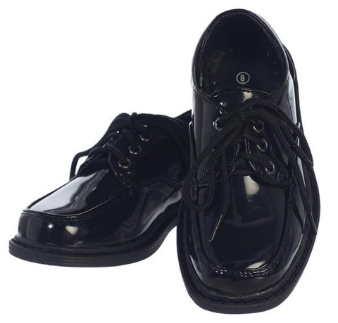 Seth Boys Patent Leather Lace Up Shoe
