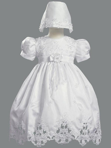 Shantung Baptismal Gown with Cut Work ? Lito 2180
