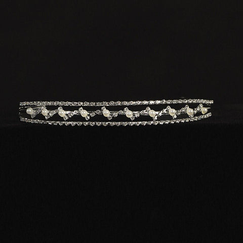 Girls Rhinestone and Pearl Special Occasion Tiara - T-68