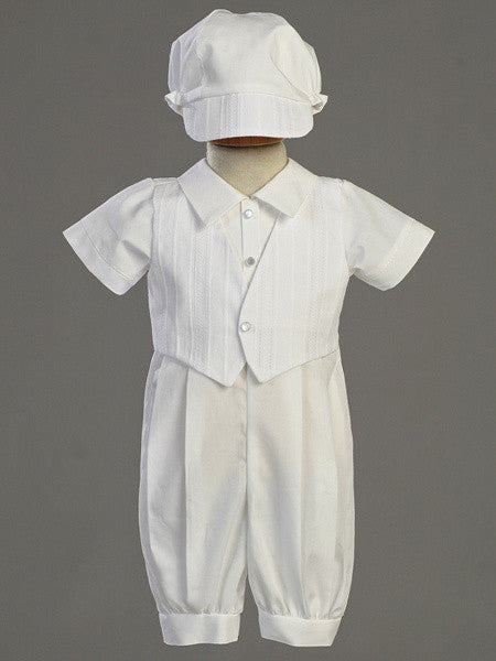 Tristan Cotton Christening Romper